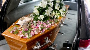 Closeup,Shot,Of,A,Colorful,Casket,In,A,Hearse,Or
